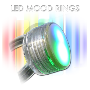 Mood flashing LED rings