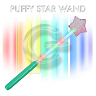 Battery-operated Puffy Star LED Wand