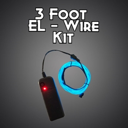 3-foot EL Wire Kit electroluminescent wire, cool neon, fluorescent wire, el wire