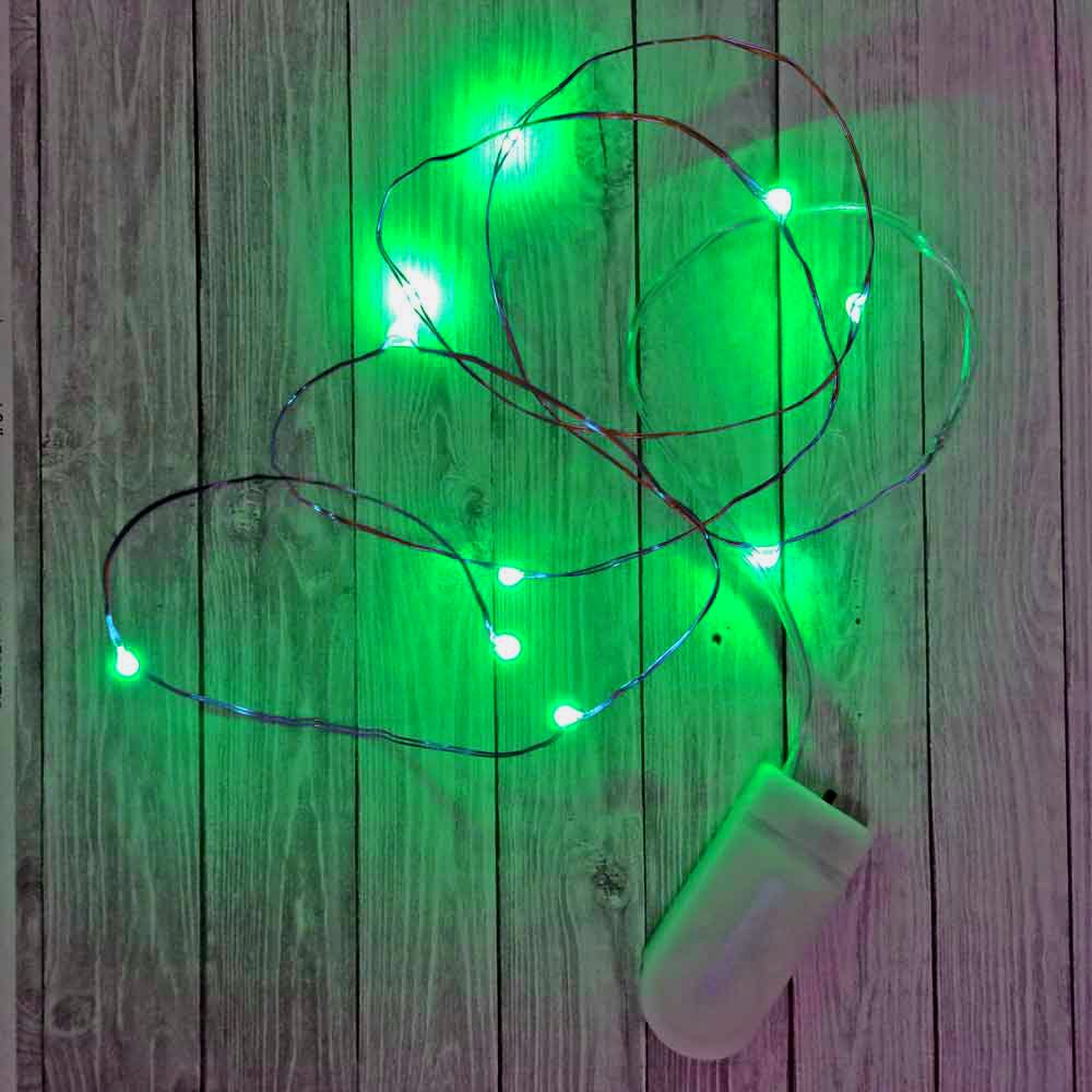 on sale eccc1 2fe4e 10 Green Fairy Light LED's on Copper Wire with Replaceable ...