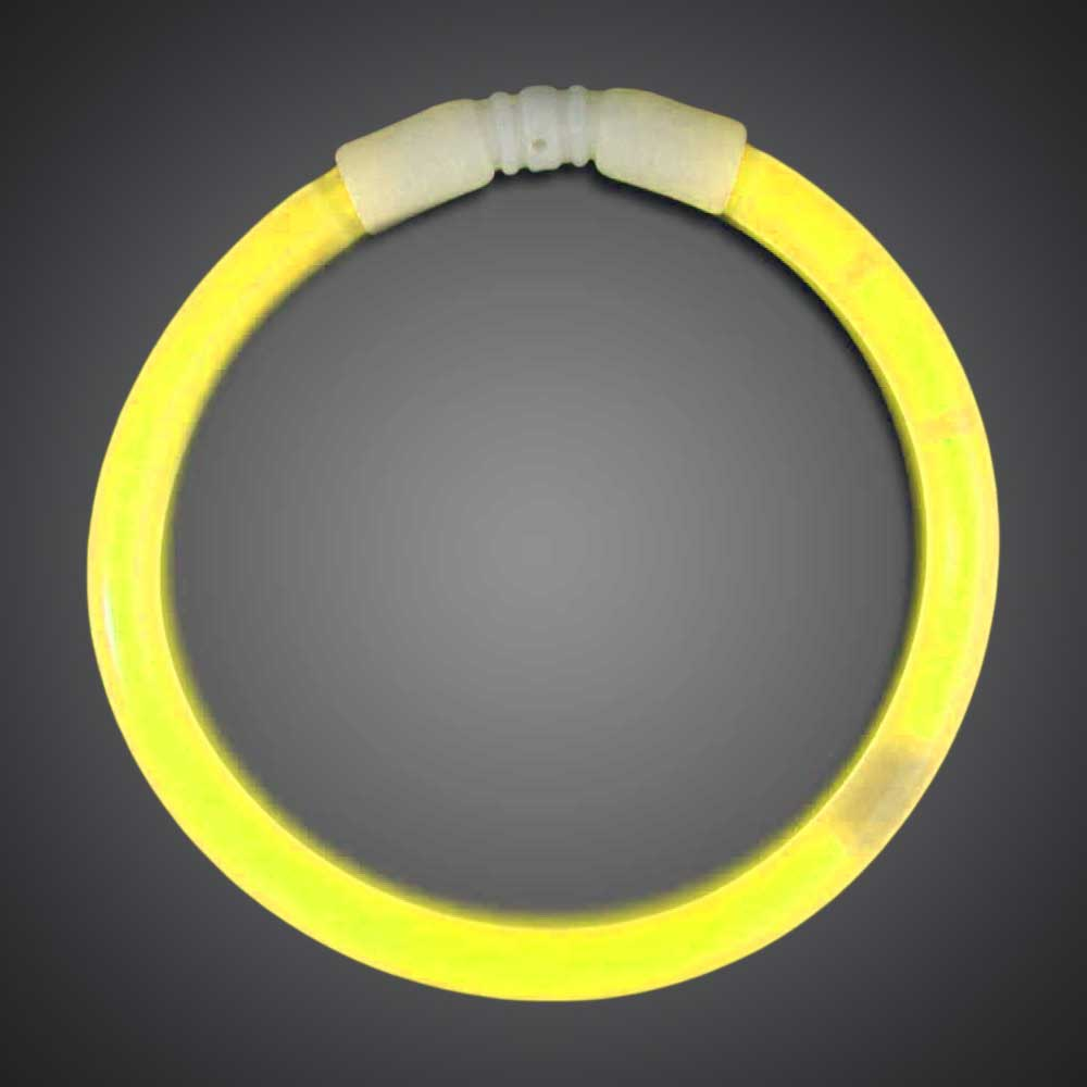 50 Yellow Solid Color 6mm Bracelets birthday, party, wedding, cheap, inexpensive, give away, customize, yellow glow bracelets, chemical glow bracelets, assorted solid color glow bracelets, assorted one-color glow bracelets, assorted wholesale glow bracelets