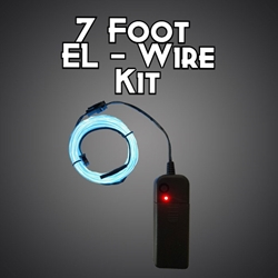 7-foot EL Wire Kit electroluminescent wire, cool neon, fluorescent wire, el wire, burning man, costume, custom