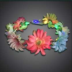 Big Flower Headband - CLOSE OUT headband, flowers, flowerband, led headband, lighted head band, head wear, head bopper