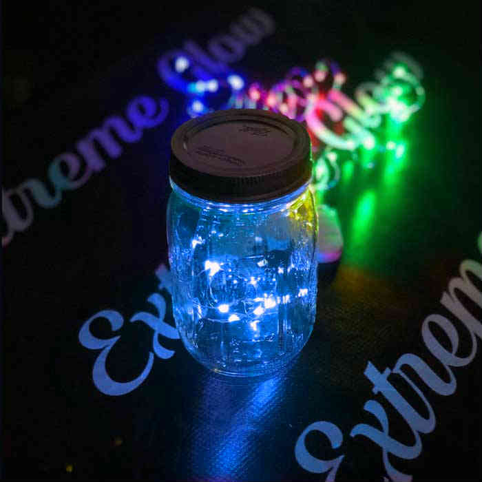 Blue LED Fairy Wire, 10 LEDs Coin Cell Batteries Firefly Mason Jar, String Light with Timer, Silver wire string light, dew drop LEDs, Silver Wire string lights, wire string lights, wedding, centerpiece, center piece, decoration, decor, christmas, tree, wreath, flower, costume