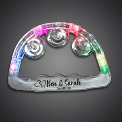 Custom Printed Light Up Tambourines custom, custom novelties, customized, personalized, personalized toy tambourine, personalized giveaways, custom promotional novelties, light up tambourines, wedding tambourine, led tambourine, birthday party give away