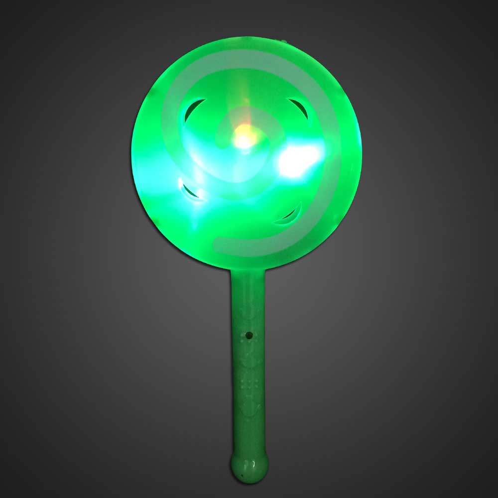 LED Flashing Lollipop Toy Green Plastic - CLOSE OUT LED Toy, Lighted Lollipop, Light Up Lollipop, birthday party toy, gift bag toy, flashing lollipop, kids, toys, summer