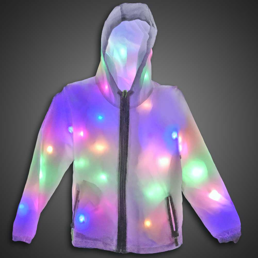 LED Lighted Jacket halloween, led jacket, burning man, new years, Rave, EDM, Prom, light up jacket, jacket with lights, led coat, coat with lights, light up coat, light up costume, led costume