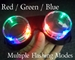 Multiple flashing modes for light-up goggles.