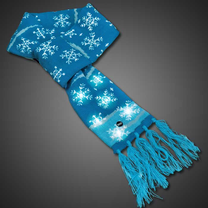 Light Up LED Snowflake Scarf  LED Scarf, Light Up Scarf, Snowflake Scarf, Christmas Scarf, Christmas Wear, Christmas Parade, holiday festival, winter, cold