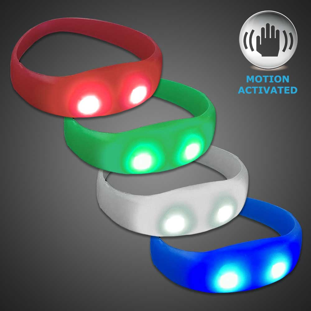 Motion Activated LED Silicone Bracelet  Motion activated LED Bracelet, Lighted Bracelet, Light Up Bracelet, sound activated bracelet, Flashing Bracelet, concert, club promotion, glow night, glow run,rave, EDM, festival, school, pep rally