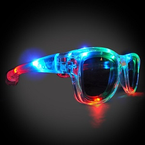 SHADES Sunglasses  lighted sunglasses, light up sunglasses, LED sunglasses, wrap-around lighted sunglasses, wrap-around shades, men, boys, vend, july 4th, party, dance