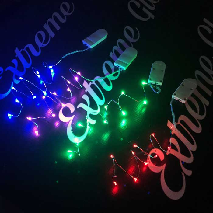 Solid Color Short Wire: 20 inch Fairy Wire, 10 LEDs Coin Cell Batteries  Firefly Mason Jar, String Light with Timer, Silver wire string light, dew drop LEDs, Silver Wire string lights, wire string lights, wedding, centerpiece, center piece, decoration, decor, christmas, tree, wreath, flower, costume