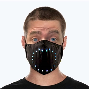 Sound Controlled LED Face Mask Opt 2 led mask, Light up mask, lighted mask, LED mask, sound activated mask, dance, costume, party, Halloween, Rave, EDM
