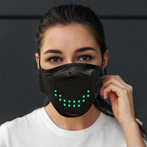 Sound Controlled LED Face Mask led mask, Light up mask, lighted mask, LED mask, sound activated mask, dance, costume, party, Halloween, Rave, EDM
