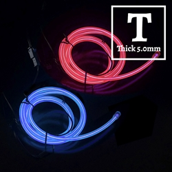 Thick EL Wire 3-foot Kit electroluminescent wire, cool neon, fluorescent wire, el wire, memory wire