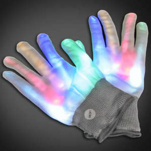 XO Multi Glove Lighted Gloves, LED Gloves, Flashing Gloves, Lighted Mitts, LED Mitts, Flashing Mitts, Light Up Gloves, Rave Gloves