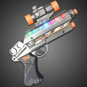 Blaster Gun - CLOSE OUT lighted gun, light up gun, toy gun, sound, alien, space, costume, halloween, boy, toy, birthday, blaster