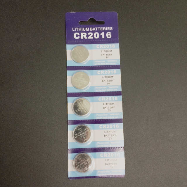 CR2016 Five-Pack CR2016 Lithium Battery, CR2016 Battery, CR2016 Button Cell Battery