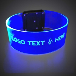 Custom Printed Light Up Magnetic Flat Bracelet custom, custom novelties, customized, personalized, personalized cat ears, personalized give aways, custom promotional novelties, light up cat ears, led cat ears, birthday party give away