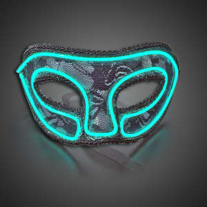EL Wire Lace Mask- CLOSE OUT Light up mask, lighted mask, LED mask, mardi gras, prom, dance, costume, party, Halloween, Rave, EDM