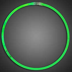 Green Glow Necklaces - Pack of 50  green glow necklaces, vending, birthday party, wedding, pta, school fundraiser, glow necklaces, chemical glow necklaces, solid color glow necklaces, one-color glow necklaces, wholesale glow necklaces