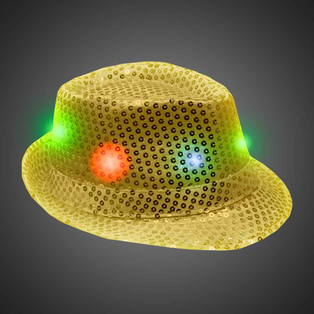 835c8e5da6a Flashing Fedora Lighted Hat with AG13 Batteries