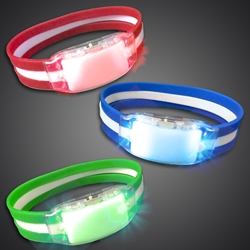 Light Up Silicone Band Bracelet - CLOSE OUT LED Bracelet, Lighted Bracelet, Light Up Bracelet, Flashing Bracelet, fundraiser, school, kids, give away, cheap, inexpensive, vend, party, mitzvah, running, night, glow run, race, rave, EDM, festival, school, pep rally