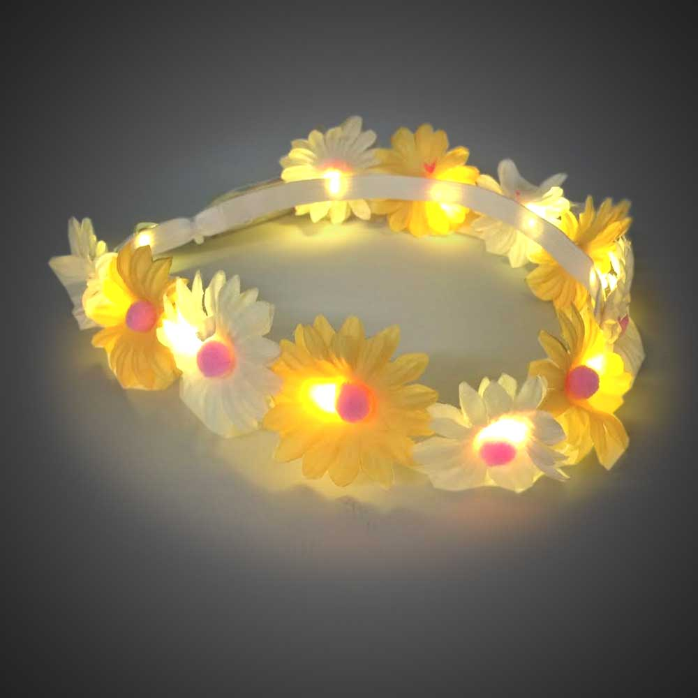 Daisy Flower Headband daisy headband, headband, flower band, led headband, led head bopper, edc, edm, coachella, burning man