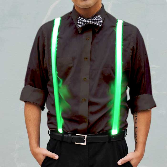 Light Up Suspenders Suspenders, light up wear, light up suit, light clothing, clothes, rave wear