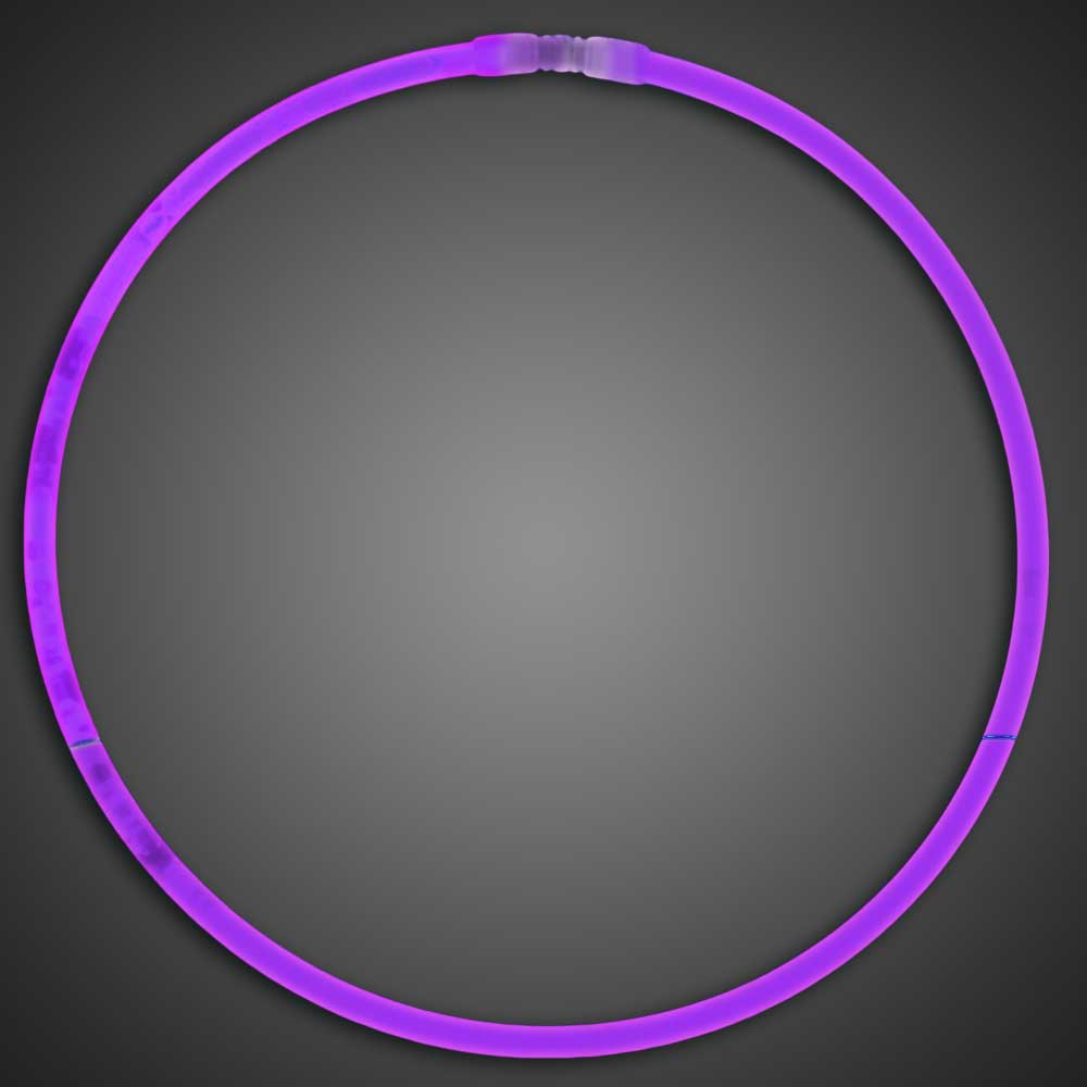 Purple Glow Necklaces - Pack of 50  purple glow necklaces, vending, birthday party, wedding, pta, school fundraiser, glow necklaces, chemical glow necklaces, solid color glow necklaces, one-color glow necklaces, wholesale glow necklaces