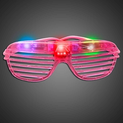 Party Sunglasses - Hot Pink green, blue, red, purple, cheap, inexpensive, give aways, kids, party, lighted sunglasses, light up sunglasses, shutter shades, flashing sunglasses, rock star sunglasses, kanye glasses