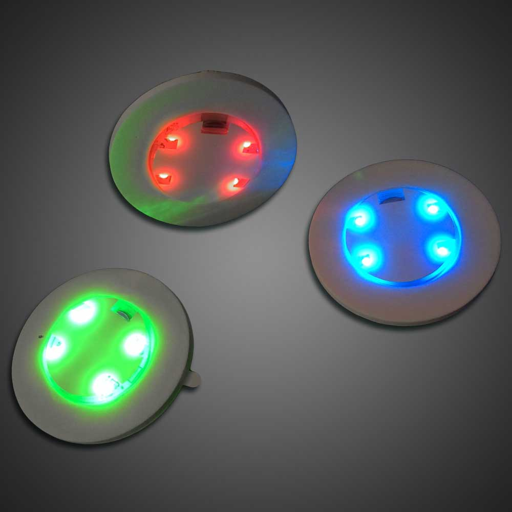 Adhesive Light With 3 LED Choices (green, Blue, Or Red) In