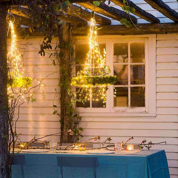 fairy wire spray strands waterfall lights 5 six ft strands 20 warm white
