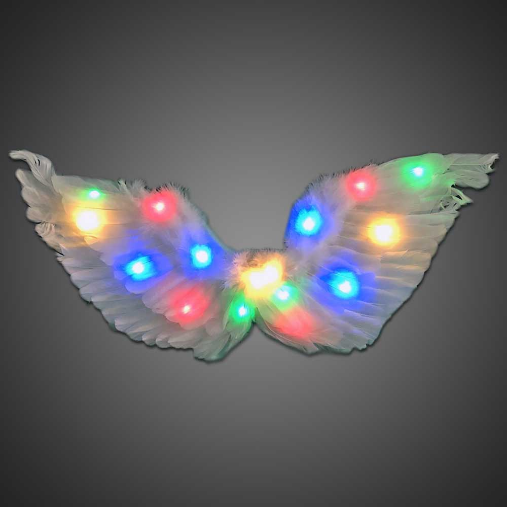 LED Angel Wings Neck tie, Lighted tie, Light Up tie, Glow tie, sequin tie, burning man, new years, Rave, EDM, Prom, angel, wing, costume