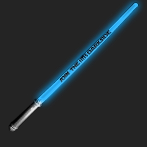 CUSTOMIZED Lightsaber Sword custom, custom novelties, customized, personalized, personalized led saber, personalized light saber, custom promotional lightsaber, light up saber, birthday party give away