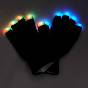 Mit Midnight Lighted Glove Lighted Gloves, LED Gloves, Flashing Gloves, Lighted Mitts, LED Mitts, Flashing Mitts, Light Up Gloves, Rave Gloves