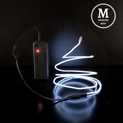 Memory Wire 3-foot EL Kit electroluminescent wire, cool neon, fluorescent wire, el wire, memory wire