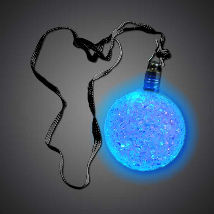 Flashing Crystal Ball Necklace LED Necklace, Flashing Necklace, Lighted Necklace, Light Up Necklace, give away, fundraiser, party, school, pta