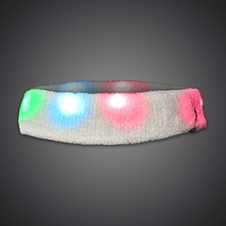 LED Headband LED Headband, Light Up Headband, Lighted Headband, glow run, night running, sweat band, exercise, halloween, burning man, visibility, safety, cloth headband, rave, EDM, festival