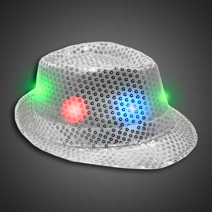 Flashing Fedora Lighted Hat with AG13 Batteries 07cf9f03c006