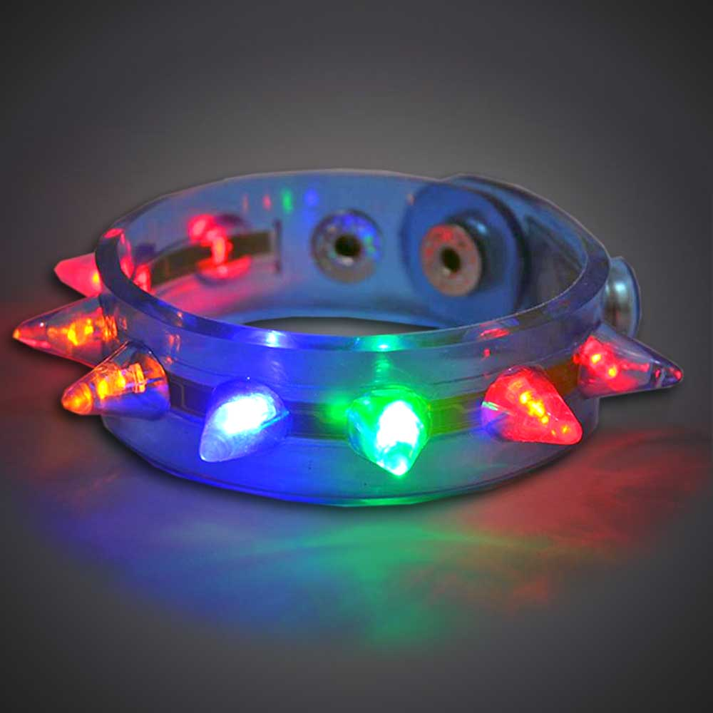 Spike Bracelet LED Bracelet, Lighted Bracelet, Light Up Bracelet, Flashing Bracelet, fundraiser, school, kids, give away, cheap, inexpensive, vend, party, mitzvah