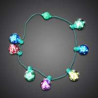 LED Christmas Ball Necklace
