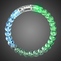 LED Light Up Acrylic Bead Bangle Bracelet