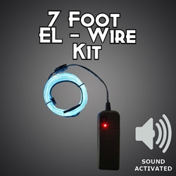 Sound Activated 7-foot EL Wire Kit electroluminescent wire, cool neon, fluorescent wire, el wire, sound activated