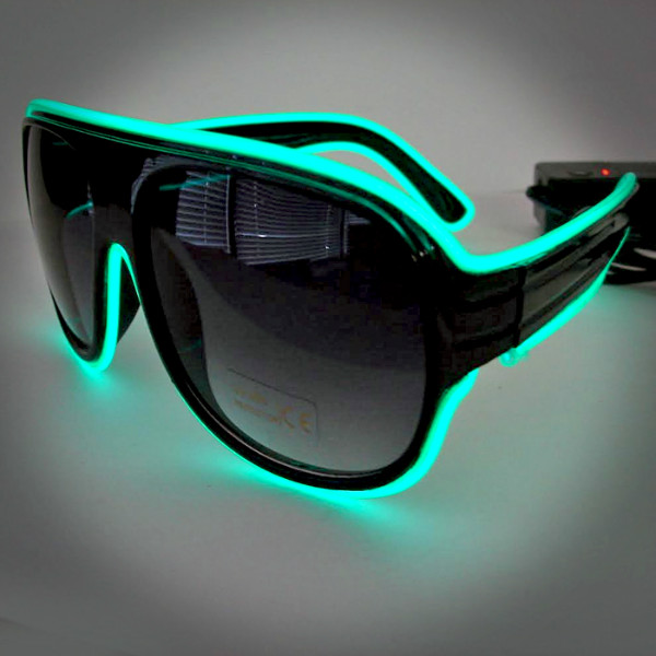 Extreme Glow EL Wire Lighted Aviator Sunglasses