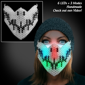 Light Up Kandi Beaded Mask