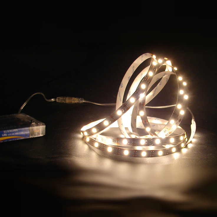 120 Warm White Led Peel And Stick Strip Lights