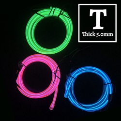 Thick EL Wire 6.5-foot Kit electroluminescent wire, cool neon, fluorescent wire, el wire, memory wire