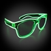 Green Wayfarers with Clear Frames