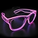 Hot Pink EL Wire with Clear Frames